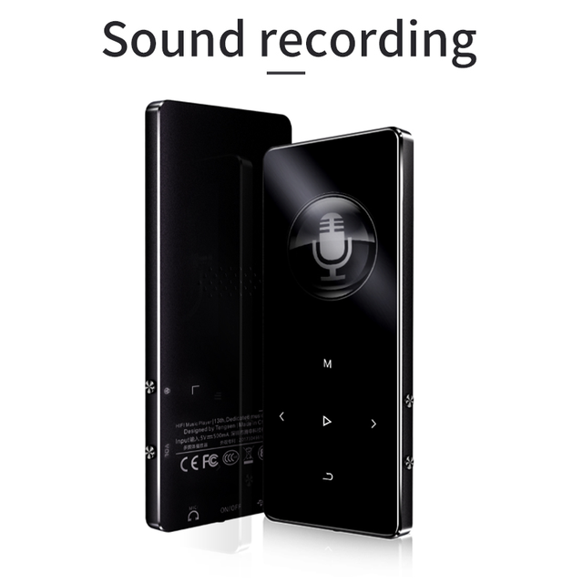 IQQ New Version MP3 Player with bluetooth Speaker touch screen and built-in 16G HiFi  portable walkman with radio /FM/ recording