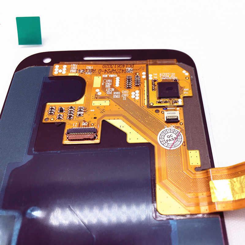100% اختبار سوبر AMOLED شاشات lcd لسامسونج غالاكسي SIV S4 Mini I9190 i9192 i9195 شاشة تعمل باللمس قطع غيار محول رقمي مع ملصق