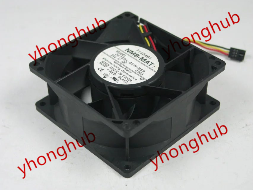 NMB-MAT 3615RL-05W-B59 EQ2 DC 24V 0.93A 3-wire 90x90x38mm Server Square Fan new original nmb 9cm9038 3615rl 05w b49 24v0 73a 92 92 38mm large volume inverter fan