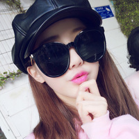 Retro Large Frame Sunglasses In Europe And America The Trend Of Dazzling Colormercury Glasses Taobao Fast