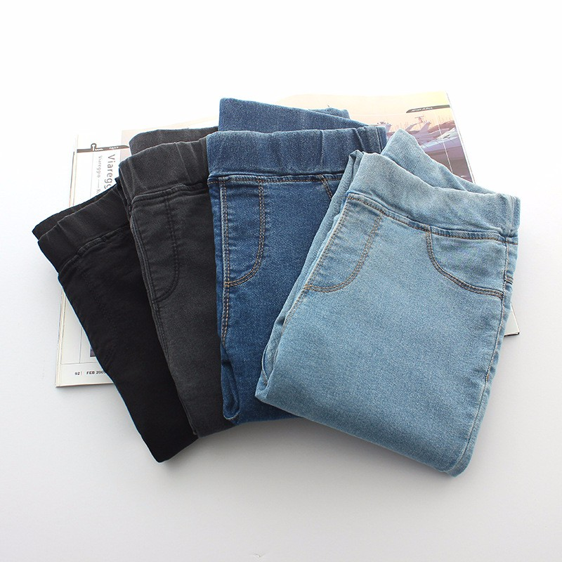 BIVIGAOS Basic Skinny Womens Jeans Ankle Pencil Pants Slim Elastic Denim Pants Jean Leggings Female Cotton Jeggings Jeans Women 46