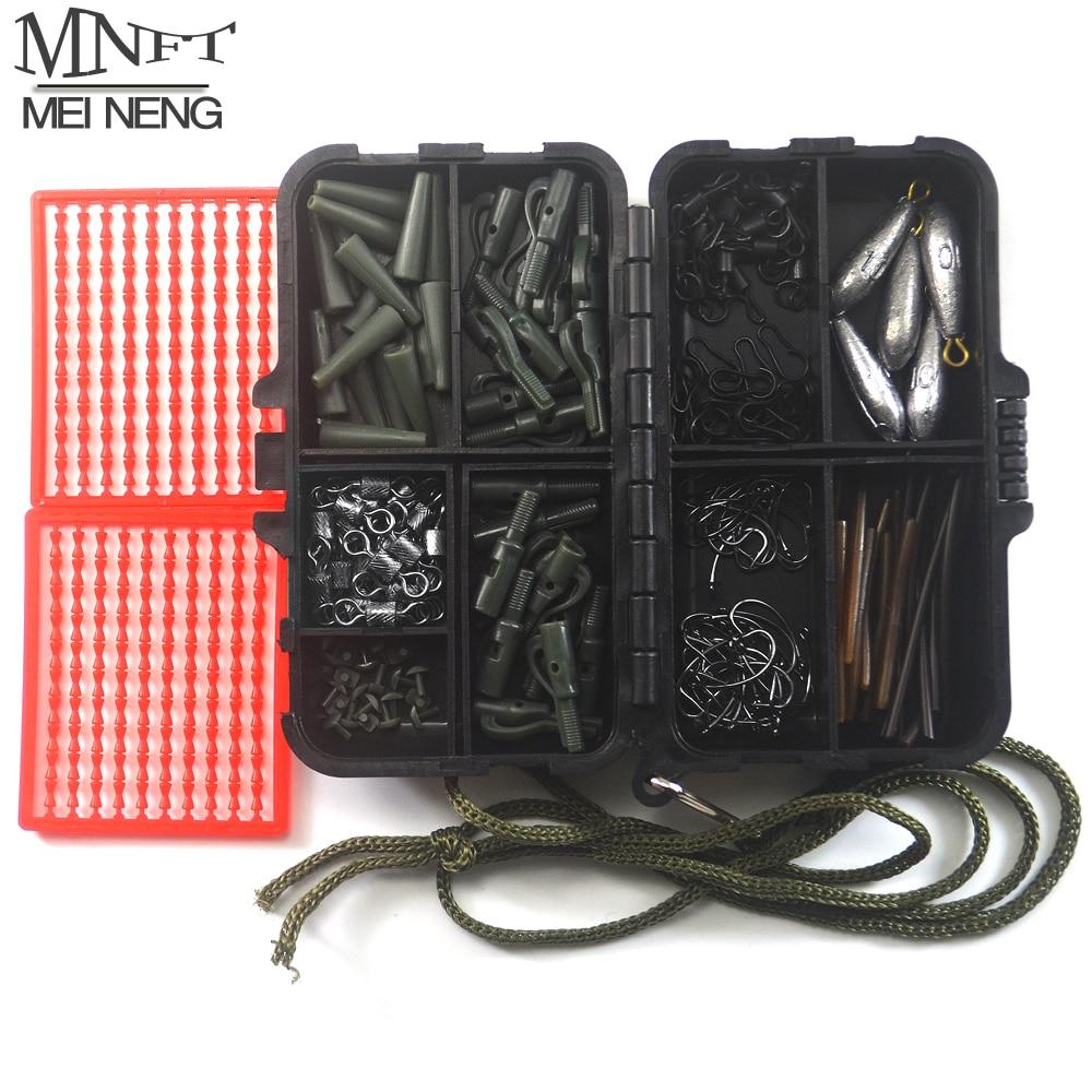 MNFT 1Set Assorted <font><b>Carp</b></font> <font><b>Fishing</b></font> <font><b>Accessories</b></font> With Tackle Box Clips Hooks,Rubber Tubes, Swivels, Sleeves,Lead sinkers Super Deal!