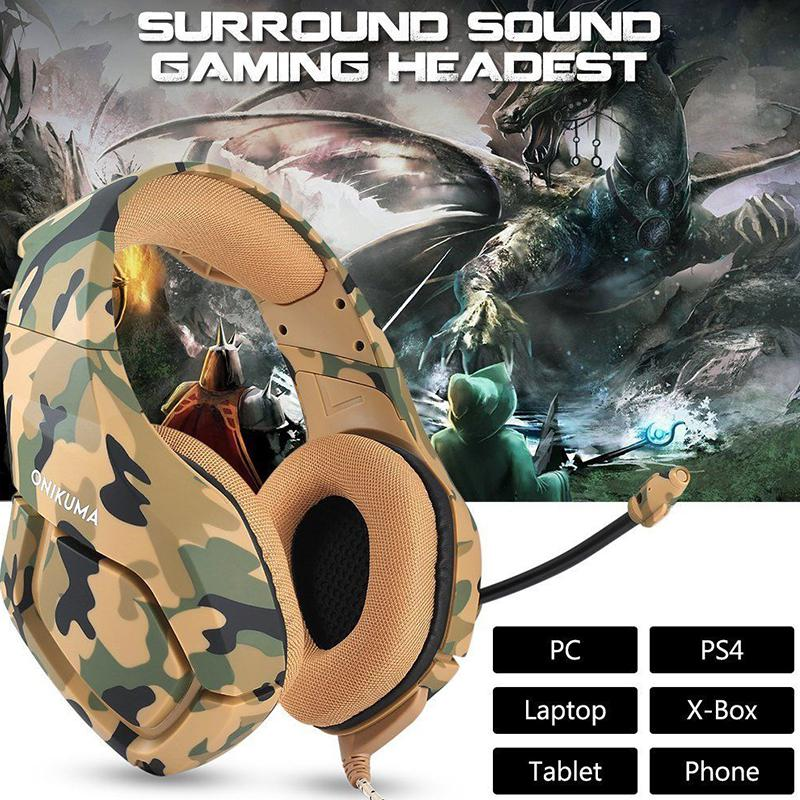 BEESCLOVER K1 Headset Stereo Bass Surround PC Gaming Headphones Game Headset With Mic For PC Mobile Phone For PS4 Xbox One D30