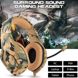 Hobbyline K1 гарнитура, басовые Игровые наушники, игровые наушники, шлем с микрофоном для ПК, мобильный телефон, для PS4, Xbox One, стол d35