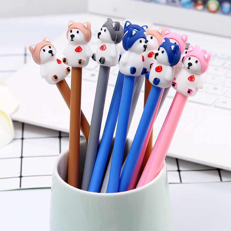 Cartoon Creative Cute single dog neutral pen animal puppy Black gel student stationery signature Pen
