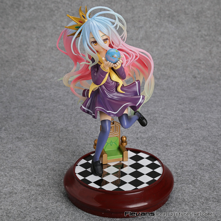 No Game No Life Imanity Shiro 1/7 Scale Painted Figure Collectible Model Toy 22cm SGFG313 no game no life imanity shiro 1 7 scale painted sexy figure pvc action figure collection model kids toys 22cm
