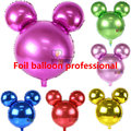 30pcs/lot 63*57cm Pure color Mickey minnie Mouse shape inflatable balloons for party decoration Toy birthday balao