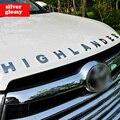 Стайлинга автомобилей Передний Капот Логотип 3D Стикера Эмблемы для Toyota Highlander 2016 2015 Автомобильные Аксессуары