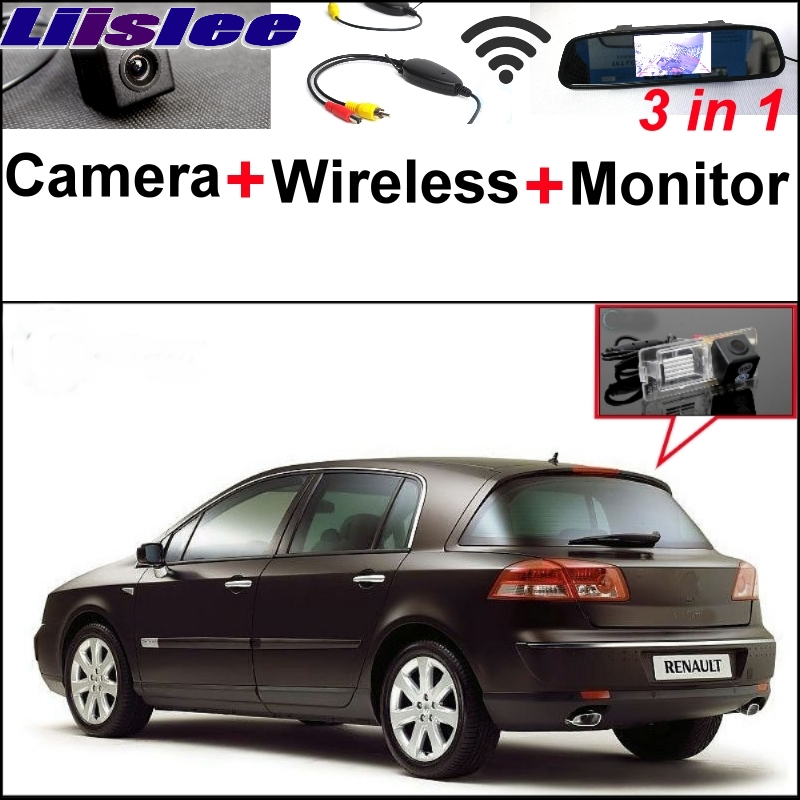 цена на Liislee For Renault Vel Satis X73 3 in1 Special Rear View Camera + Wireless Receiver + Mirror Monitor Easy Back Parking System