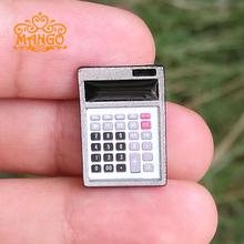 Free shipping1:12 Miniature Calculator Static Model for Dolls' Accessories Dollhouse Furniture