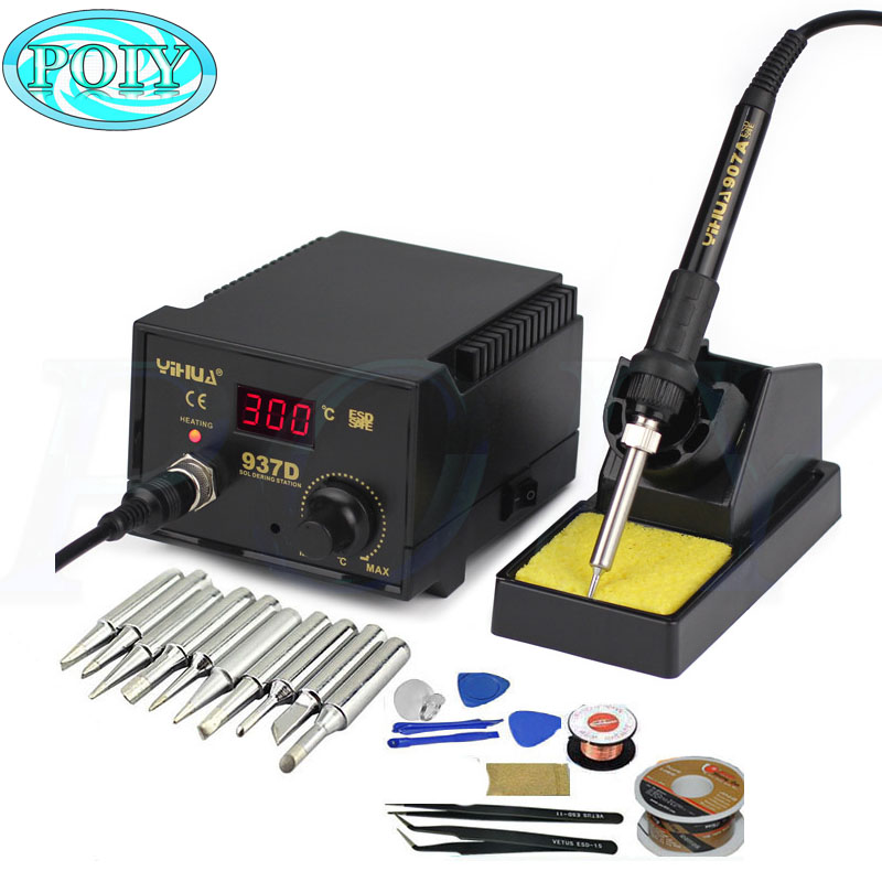 220v  110v 50w Temperature Control Esd Digital Soldering Station    Rework Stations Yihua 937d
