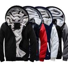 EUA TAMANHO 2016 Homens Outono Inverno Hoodies Em Branco padrão Fleece Casaco Sportswear Jaqueta do Uniforme de Beisebol de lã fazer para requisitar os projetos