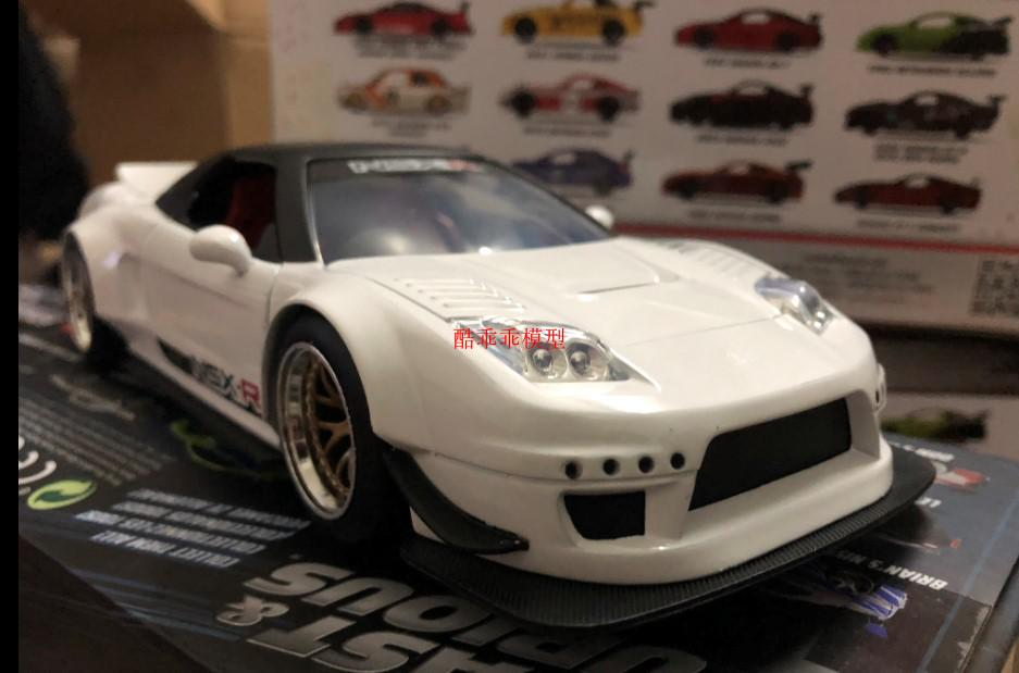 JADA 1/24 Scale Car Model Toys JDM Series Honda NSX TYPE -R Supercar Diecast Metal Car Model Toy For Gift/Collection/Kids