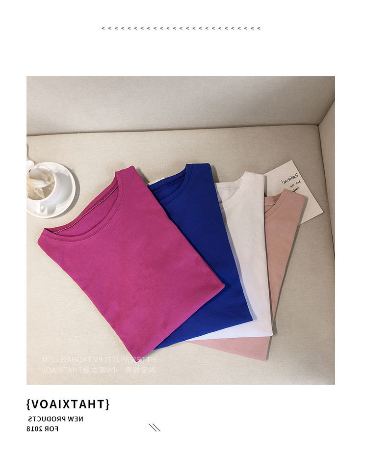 Candy Color Short Sleeve Loose T-Shirts Girls Summer 19 New Cool O-Neck Boyfriend Student Women T-Shirt Lady Tops Plus Size 3