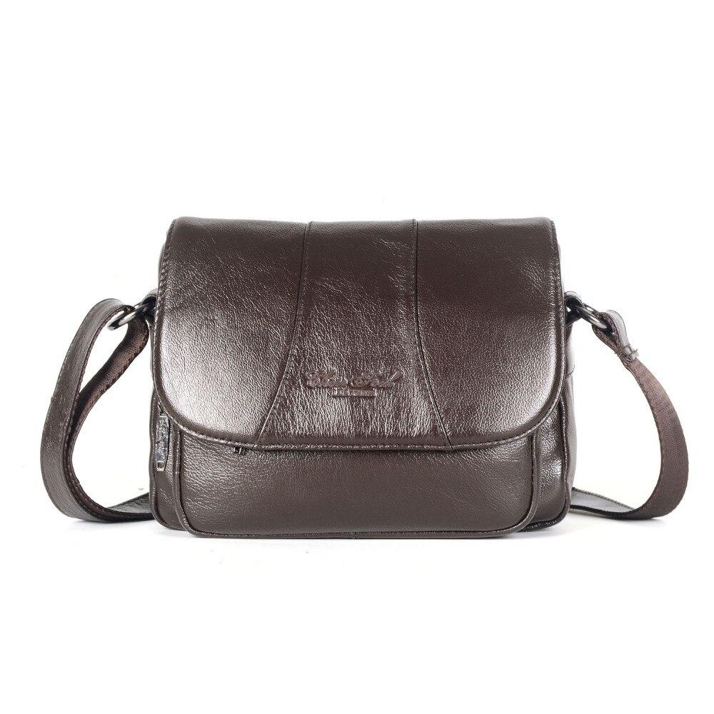 New Genuine Leather Women Small Messenger Bags Famous Designer Travel Shoulder Bags For Ladies Crossbody Bags Handbags 2018
