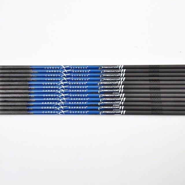 12 pièces 31 pouces Colonne Vertébrale 350/400/500/600/700/800/900/1000 pur Carbone Flèche Arbre ID 4.2mm Flèche Accessoire Pour Flèche bricolage