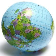 лучшая цена 30CM Inflatable Globe World Earth Ocean Map Ball Geography Learning Educational Beach Ball Kids Toy Home Office Decoration