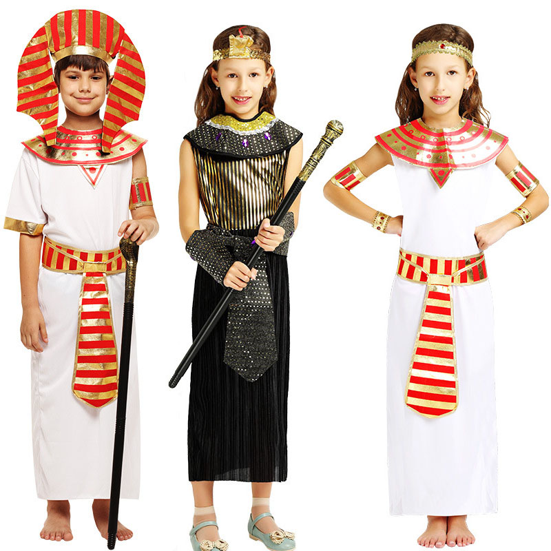 Childrens Girls Egyptian Queen Cleopatra Fancy Dress Costume Egypt Princess