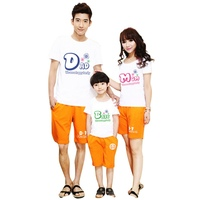 Family Matching Outfits Tshirt Clothes For Matching Family Clothes Mother Father Baby Short Sleeve Casual Shirt