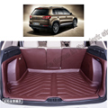 free shipping 5d full cover fiber leather waterproof car trunk mat for volkswagen tiguan 2010 2011 2012 2013 2014 2015 2016