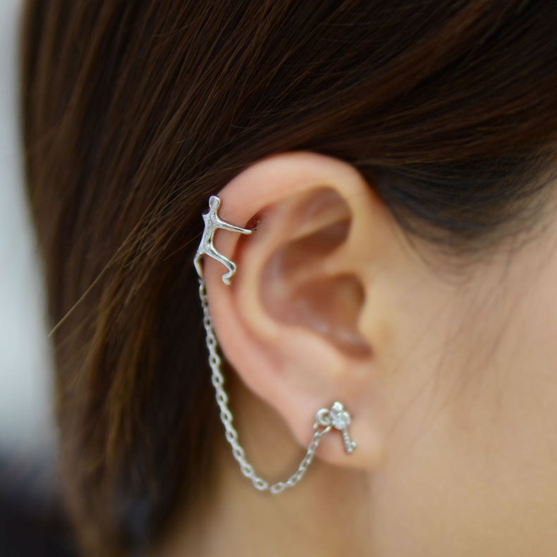 DUOYING Punk Alloy Earring Cuff Popular Gold Silver Color Climbing ...