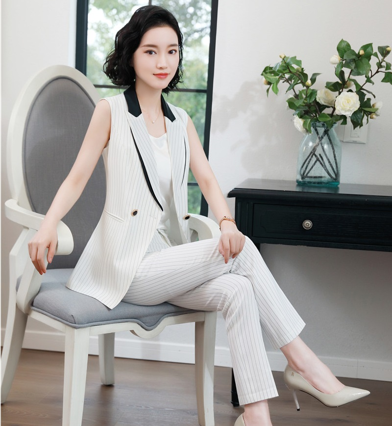 Formal Fashion 2 Piece Sets With Pants And Waistcoat & Vest Coat For Ladies Office Business Work Wear Blazers Pantsuits