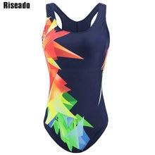 Riseado új fürdőruha nők 2018 egyrészes fürdőruha női sportverseny Úszás ruhák női fürdőruhák