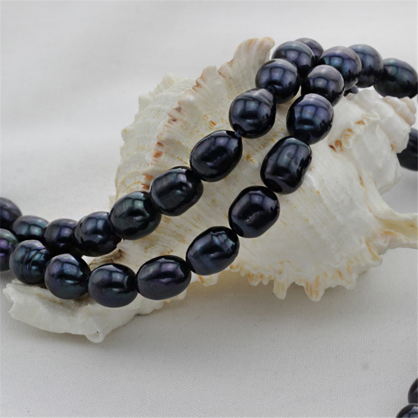 SNH 5 strands/package 10-11mm A+ rice shape hot sale pearl strings natural freshwater pearl