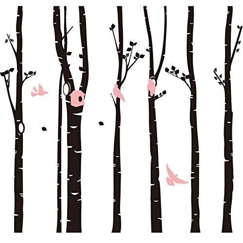 246*230 настенные декорации с изображением лесных птиц DIY художественная Настенная Наклейка для детской комнаты гостиная спальня ТВ фон обои ... - 2
