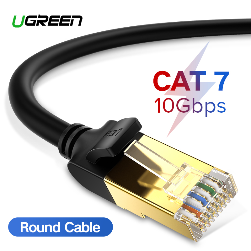 Ugreen Cat7 Ethernet Cable RJ 45 Network Cable UTP Lan Cable Cat 7 RJ45 Patch Cord 10m/20m/30m for Router Laptop Cable Ethernet