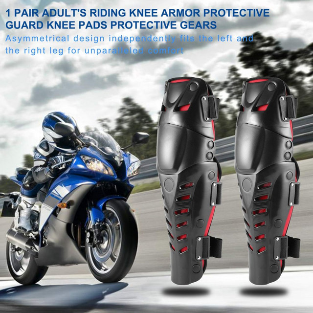 1 Pair Adult's Riding Armor Guard Knee Pads Protective Gears for Motorcycle Motocross