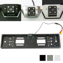Size 545mm 141mm Night Vision European License Plate Frame Car Number with CCD Rear View RearView