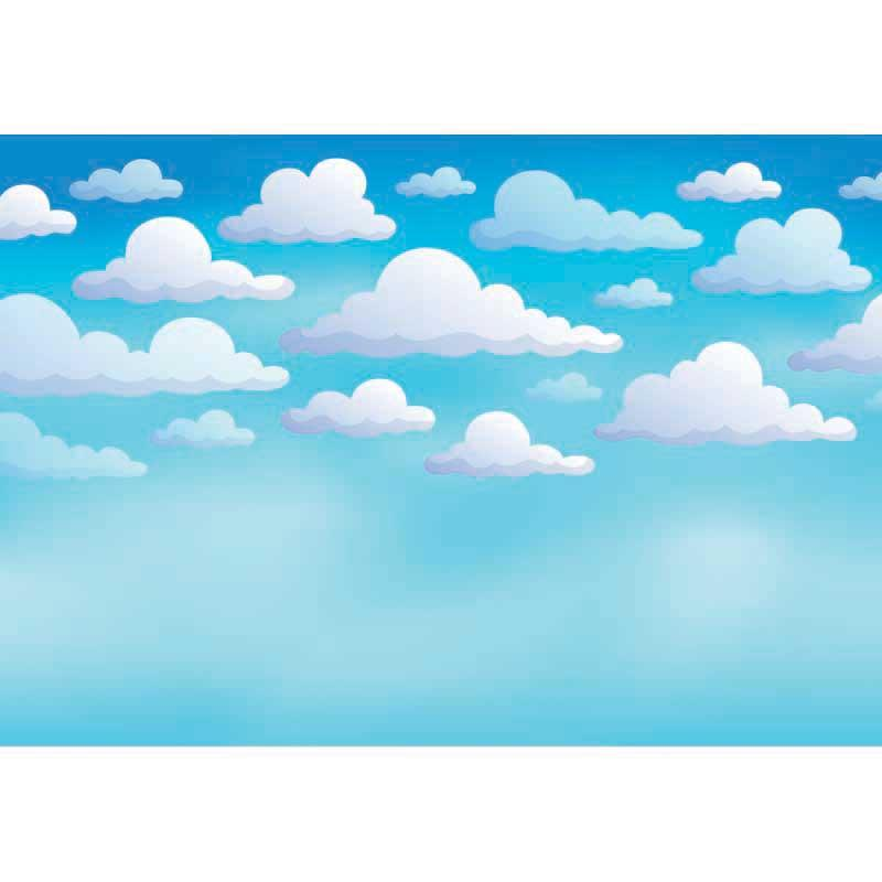 Blue Sky White Clouds Comic Cartoon Photography Backgrounds Vinyl cloth High quality Computer printed children kids backdrop