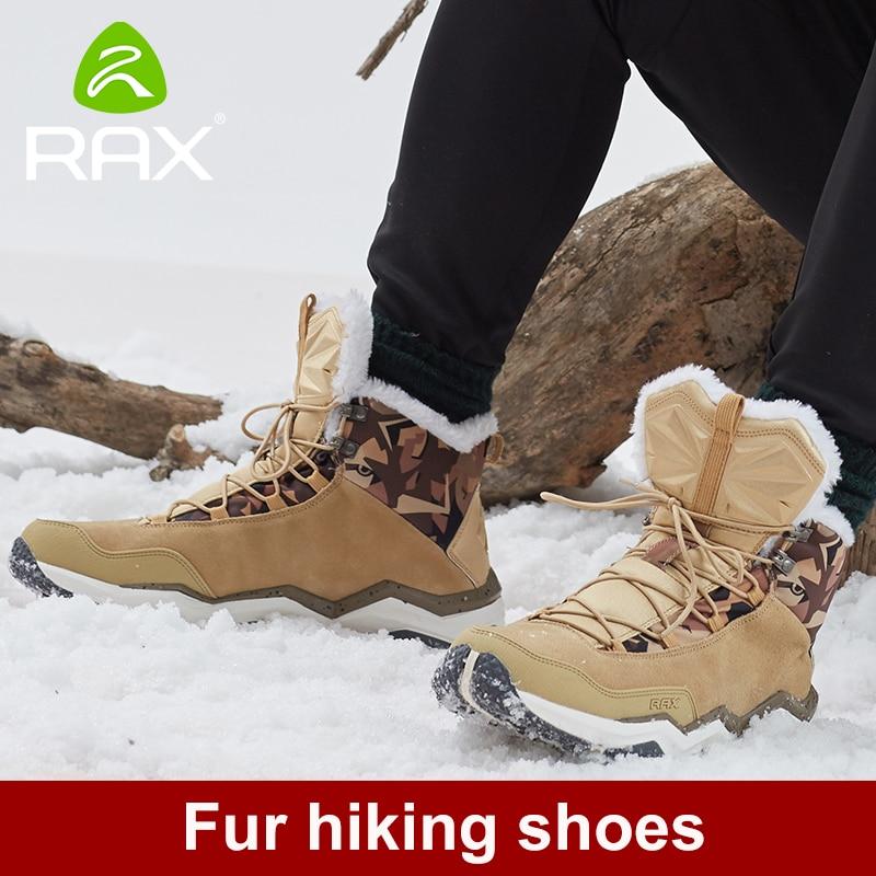 RAX Men s Winter Hiking Boots Mountain Trekking Anti slip ShoesBreathable Comfortable Soft Mountain font b