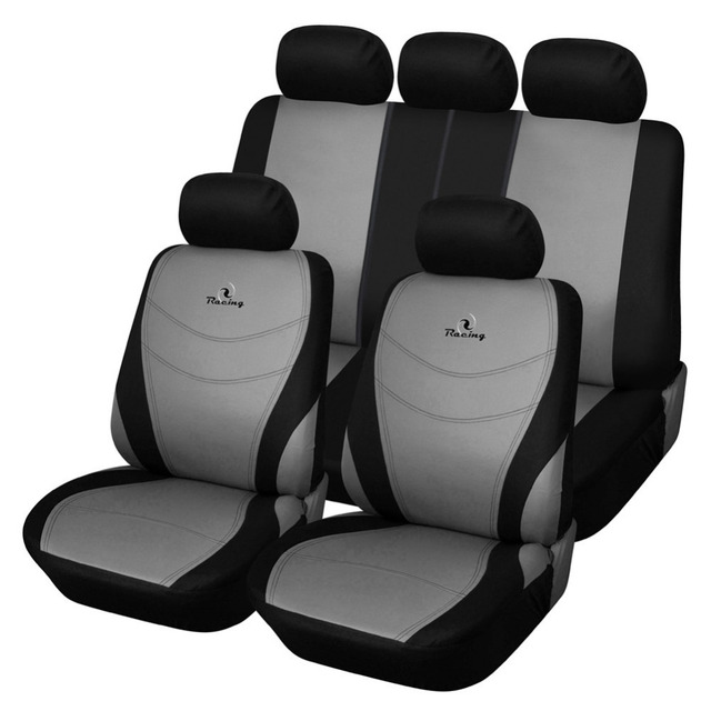 AODELAI Polyester Fabric Car Seat Covers Set Universal Fit is Compatible with Most Vehicles Embroidery Design Seat Cover