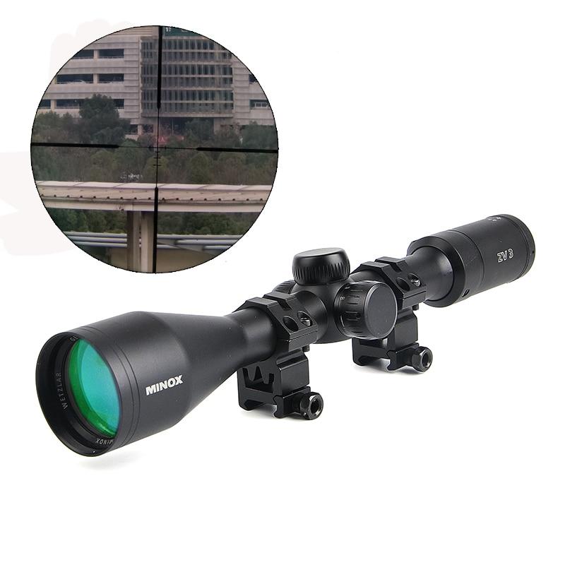 Minox ZV 3 4.5-14x44 BDC 400 Tactical Riflescope Optic Sight Rifle Scope Side Focus Parallax Sniper zielfernrohr Hunting Scopes цена