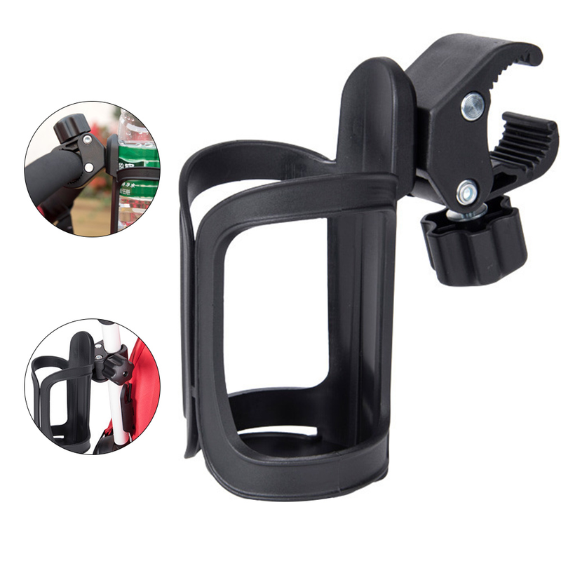 Baby Stroller Cup-Holder Rack-Bottle Cart Carrying-Case Rotatable Universal New 360