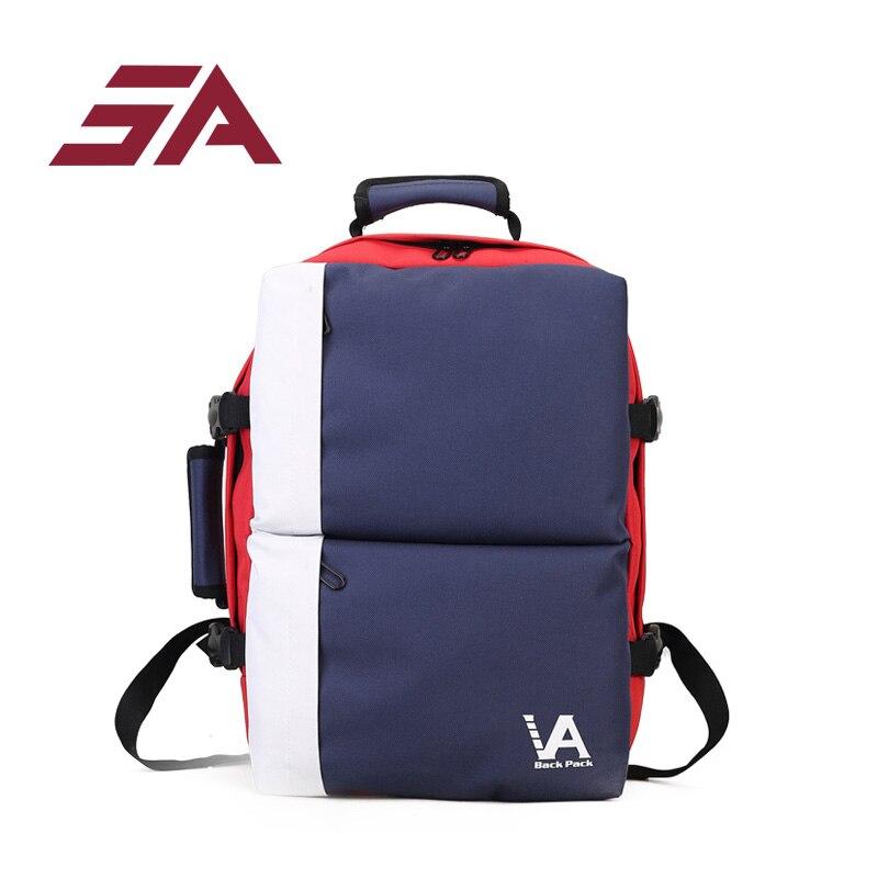 SA 2018 sac à dos pour ordinateur portable femmes toile ceintures Vintage sac à dos pour adolescents multi-fonction sacs nouvelle mode école étudiant sac