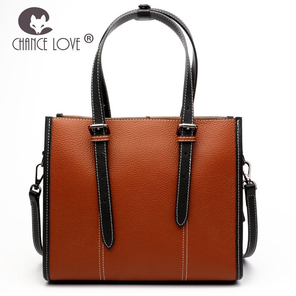 Chance Love 2018 new Genuine leather double lacing handbag leather fashion lacquer pattern ladies handbag shoulder bag недорго, оригинальная цена