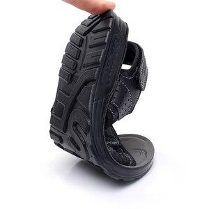 Image 5 - Apakowa 주니어 보이즈 오픈 토 프트 3 스트랩 스포츠 샌들 키즈 여름 해변 워킹 워터 슈즈 old Teens Boy Outdoor Footwear