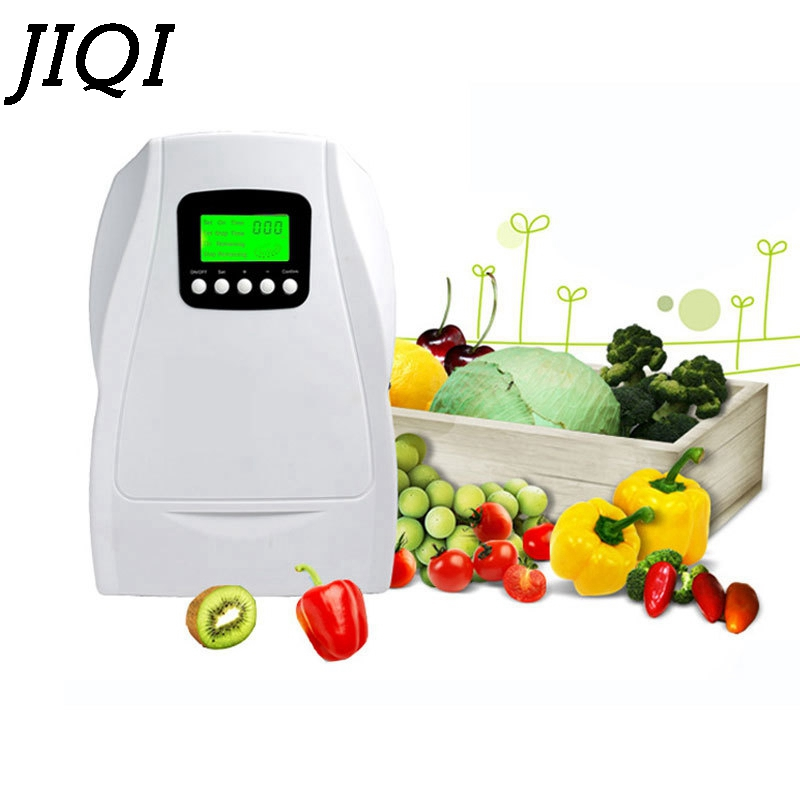 JIQI Ozone water generator fruit vegetable Deodorizer Ionizer Sterilizer fresh Air Purifier Disinfector Timer Ozonator 110V 220V 220v 5g quartz tube ozone machine household ozone disinfector ozone generator parts