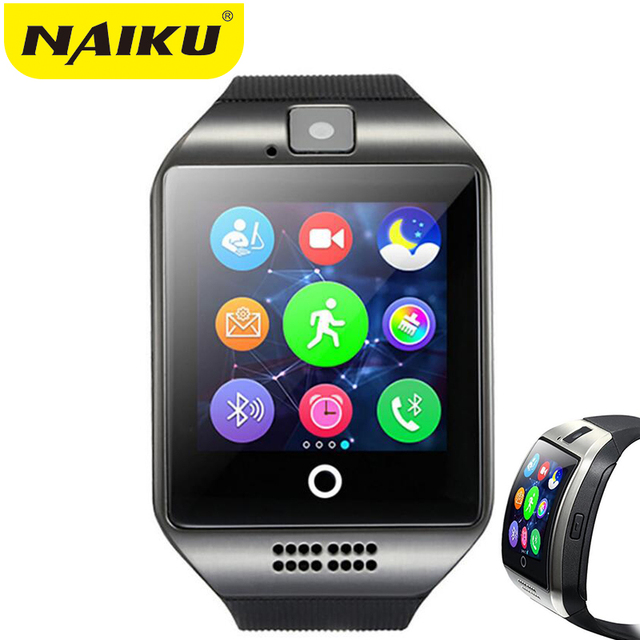c59d71442e5 NK18 NAIKU Bluetooth Inteligente Relógio Relogio Smartwatch Android Phone  Call SIM TF Camera para IOS iPhone
