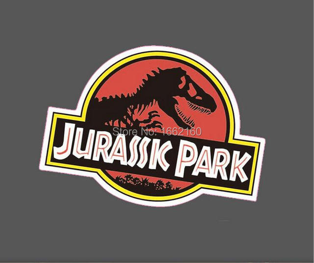 Jurassic park vinyl sticker snowboard luggage car laptop phone 8x6cm m0403
