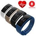 Teamyo Inteligente Pulseira Pulseira de pulso de Oxigênio No Sangue Freqüência Cardíaca Relógio De Fitness SMS/Smartband Lembrete de Chamada Bluetooth para iOS Android