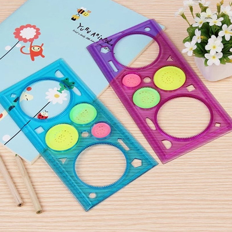 Variety Of  Multi-function Puzzle Ruler Novelty Drawing Board New Spiral Art Tool  Ruler Funny Gift Creative Drawing Set Toy Rul