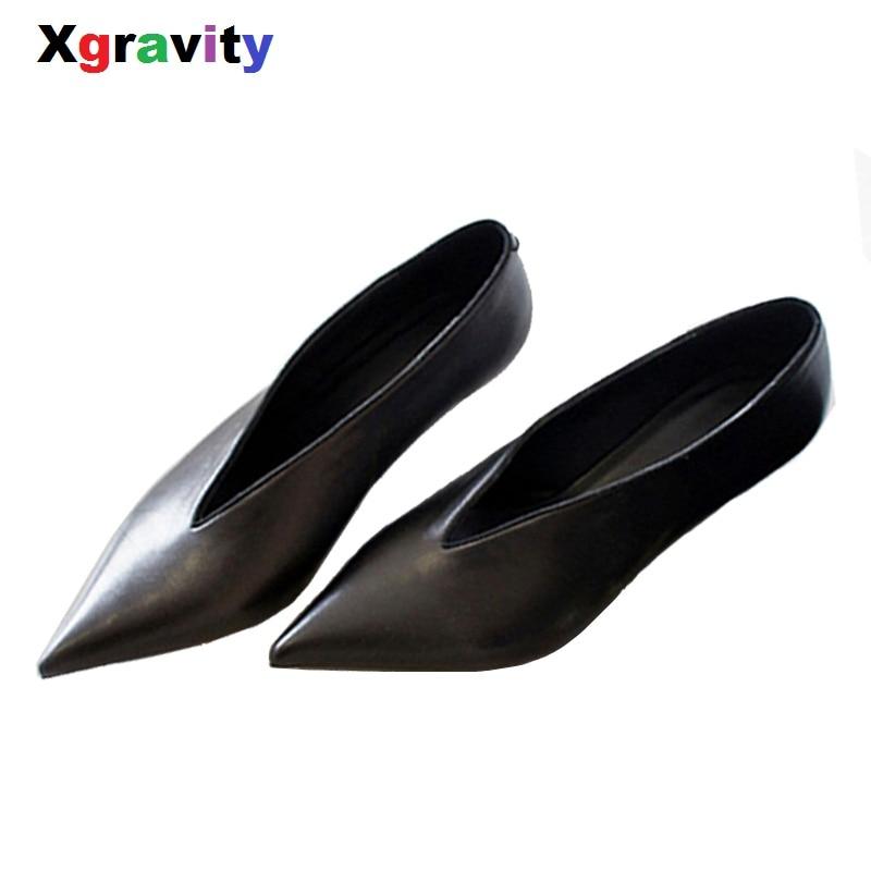 XGRAVITY européenne américaine Pop Star bout pointu mince talon femme chaussures profonde V conception dame mode chaussures élégantes femmes chaussure C264