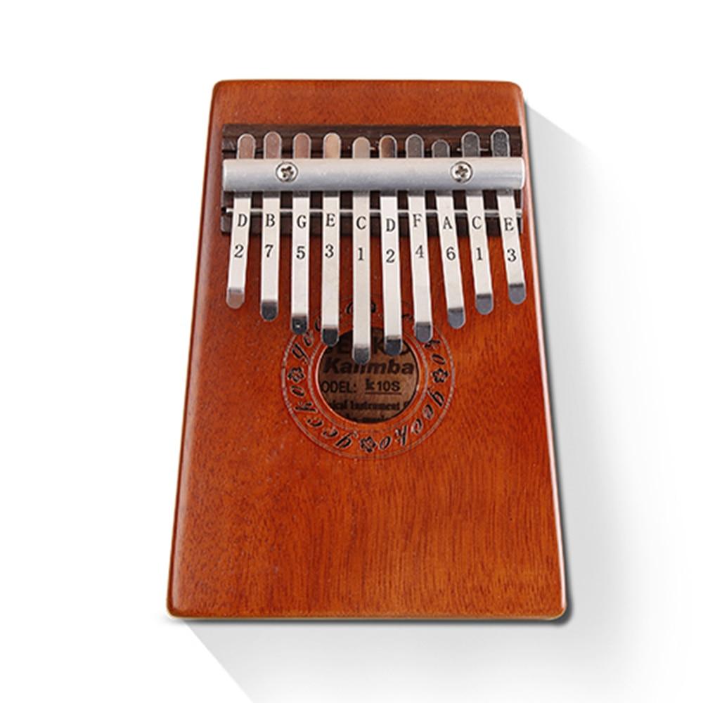 GECKO 10 Touches K10S Kalimba Bubinga Pouce Piano Mbira Doigt Percussion Café mini clavier instruments de musique Enfants Marimba Bois