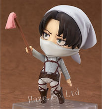 Attack On Titan Levi Nendoroid PVC Figure Figurine Model 10cm(China)