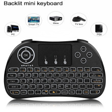H9 Portable Mini Wireless Keyboard 2.4G Air Mouse Backlit Remote Control Touchpad For PC Smart TV X96 Android TV Box PK I8 M2S