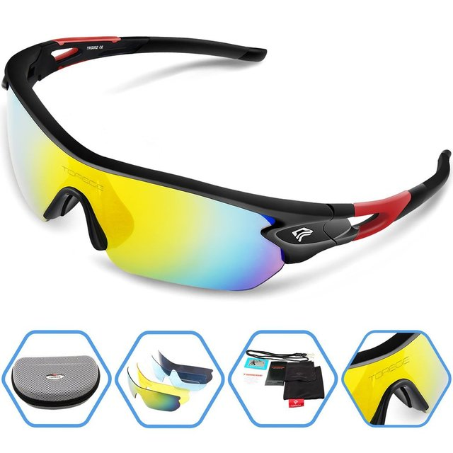 Fashion Sports Sunglasses Polarized Outdoor Glasses for Men Women Sport Running Fishing Golf Eyewear Unbreakable Frame